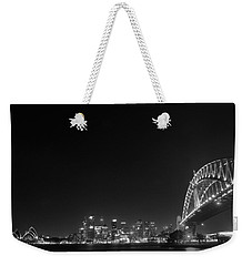 Sydney By Night Black And White Weekender Tote Bag by Kaleidoscopik Photography
