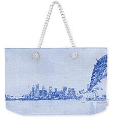 Sydney Skyline Blueprint Weekender Tote Bag by Kaleidoscopik Photography