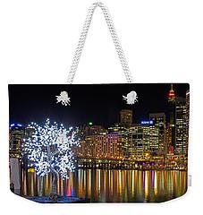 Sydney Skyline From Cockle Bay Weekender Tote Bag by Nicholas Blackwell