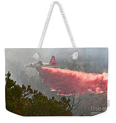 Weekender Tote Bag featuring the photograph Tanker 07 On Whoopup Fire by Bill Gabbert