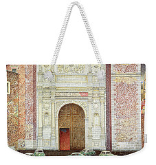 Taxi Depot, San Lazaro, Mexico City, 2003 Oil On Canvas Weekender Tote Bag by James Reeve