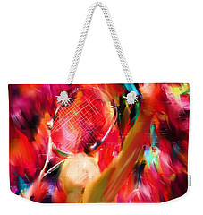 Tennis I Weekender Tote Bag by Lourry Legarde
