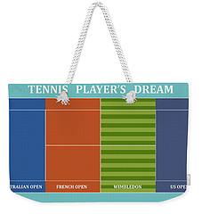 Tennis Player-s Dream Weekender Tote Bag by Carlos Vieira