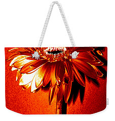 Tequila Sunrise Zinnia Weekender Tote Bag by Sherry Allen