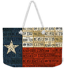 Texas Flag The Lone Star State License Plate Art Weekender Tote Bag by Design Turnpike