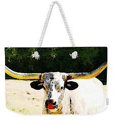 Texas Longhorn - Bull Cow Weekender Tote Bag by Sharon Cummings
