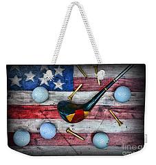 The All American Golfer Weekender Tote Bag by Paul Ward