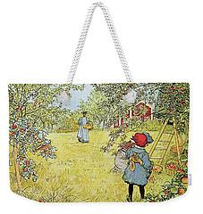 The Apple Harvest Weekender Tote Bag by Carl Larsson