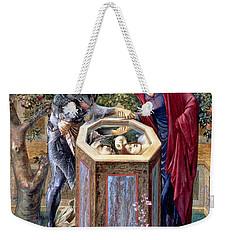 The Baleful Head, C.1876 Weekender Tote Bag by Sir Edward Coley Burne-Jones
