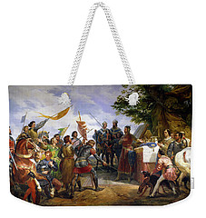 The Battle Of Bouvines Weekender Tote Bag by Emile Jean Horace Vernet