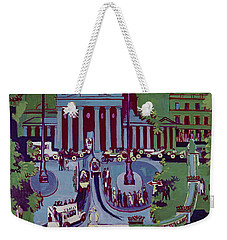 The Brandenburg Gate Berlin Weekender Tote Bag by Ernst Ludwig Kirchner