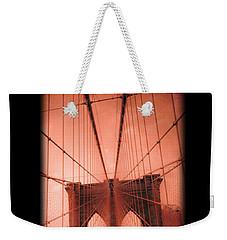 The Brooklyn Bridge Weekender Tote Bag by Edward Fielding