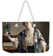 The Canary Weekender Tote Bag by William McGregor Paxson