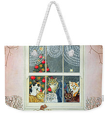 The Christmas Mouse Weekender Tote Bag by Ditz