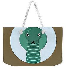 The Cobra Cute Portrait Weekender Tote Bag by Florian Rodarte