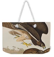 The Common Buzzard Weekender Tote Bag by John James Audubon