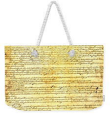 The Constitution Of The United States Of America Weekender Tote Bag by Design Turnpike