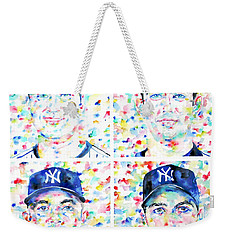 the CORE FOUR - watercolor portrait.1 Weekender Tote Bag by Fabrizio Cassetta