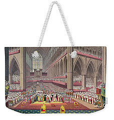 The Coronation Of King William Iv And Queen Adelaide, 1831 Colour Litho Weekender Tote Bag by English School