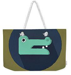 The Crocodile Cute Portrait Weekender Tote Bag by Florian Rodarte