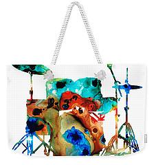 The Drums - Music Art By Sharon Cummings Weekender Tote Bag by Sharon Cummings