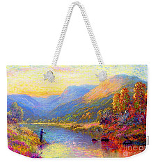 Fishing And Dreaming Weekender Tote Bag by Jane Small