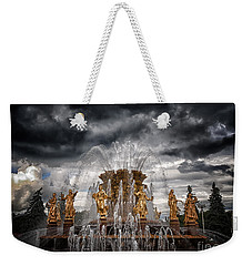 The Friendship Fountain Moscow Weekender Tote Bag by Stelios Kleanthous