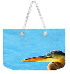 The Great One - Blue Heron By Sharon Cummings Weekender Tote Bag by Sharon Cummings