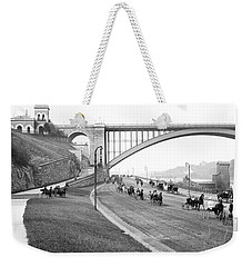 The Harlem River Speedway Weekender Tote Bag by Detroit Publishing Company