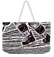 The Hockey Player Weekender Tote Bag by Karol Livote