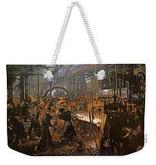 The Iron-rolling Mill Oil On Canvas, 1875 Weekender Tote Bag by Adolph Friedrich Erdmann von Menzel