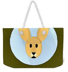The Kangaroo Cute Portrait Weekender Tote Bag by Florian Rodarte