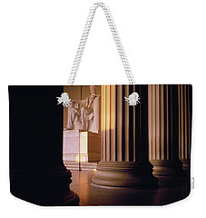 The Lincoln Memorial In The Morning Weekender Tote Bag by Panoramic Images