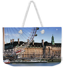 The London Eye And County Hall Weekender Tote Bag by Rod McLean