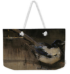 The Magpie Weekender Tote Bag by Joseph Crawhall