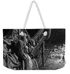 The Mariner Gazes On The Serpents In The Ocean Weekender Tote Bag by Gustave Dore