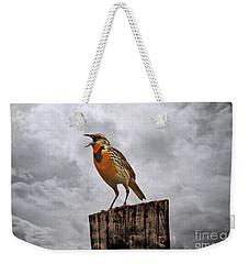 The Meadowlark's Song Weekender Tote Bag by Elizabeth Winter