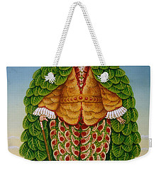 The New Vestments Ivor Cutler As Character In Edward Lear Poem, 1994 Oils And Tempera On Panel Weekender Tote Bag by Frances Broomfield