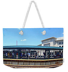 The Old And New Yankee Stadiums Panorama Weekender Tote Bag by Nishanth Gopinathan