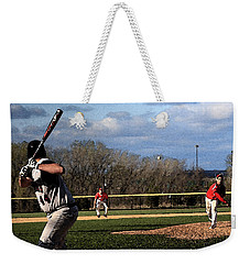 The Pitch With Watercolor Effect Weekender Tote Bag by Frank Romeo