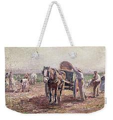 The Potato Pickers Weekender Tote Bag by Harry Fidler