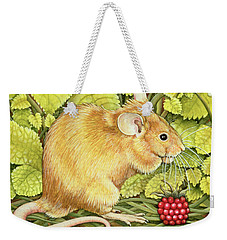 The Raspberry Mouse Weekender Tote Bag by Ditz