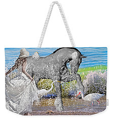 The Sea Horse Weekender Tote Bag by Betsy Knapp