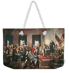 The Signing Of The Constitution Of The United States In 1787 Weekender Tote Bag by Howard Chandler Christy