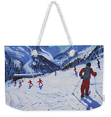 The Ski Instructor Weekender Tote Bag by Andrew Macara