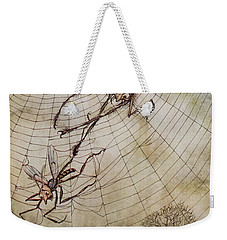 The Spider And The Fly Weekender Tote Bag by Arthur Rackham