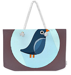The Swallow Cute Portrait Weekender Tote Bag by Florian Rodarte