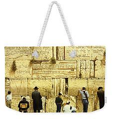 The Western Wall  Jerusalem Weekender Tote Bag by Graham Braddock