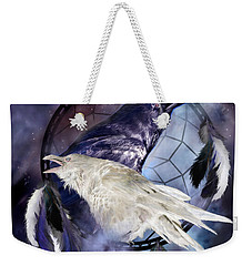 The White Raven Weekender Tote Bag by Carol Cavalaris