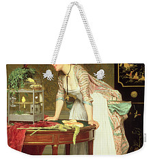 The Yellow Canaries Weekender Tote Bag by Joseph Caraud